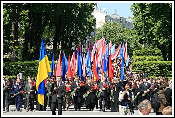 people politic victory day kiev