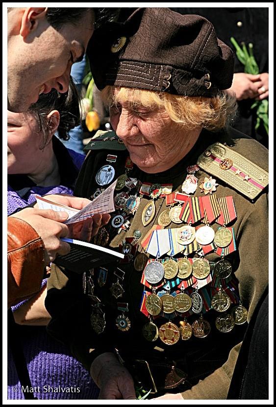 female veteran victory day kiev