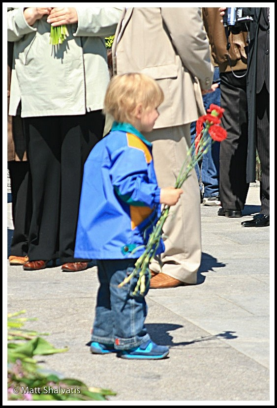 childs offering victory day kiev