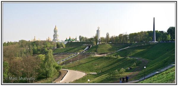 Slavy Park, Kiev, in Spring