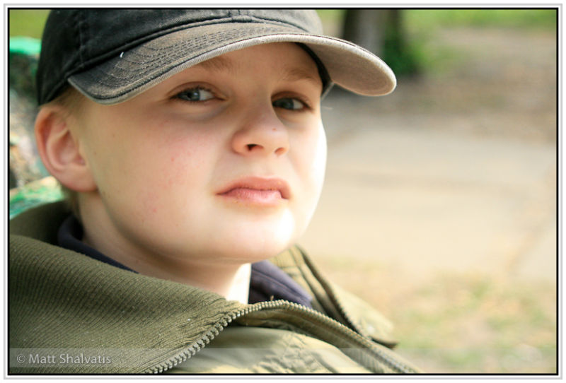 boy on a bench