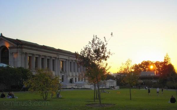 doe berkeley library sunset