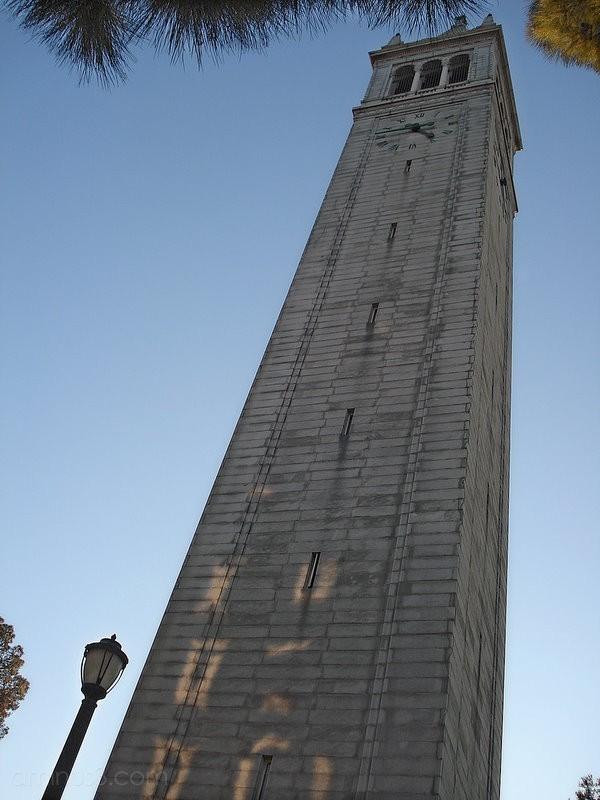 campanile berkeley sather tower clock california
