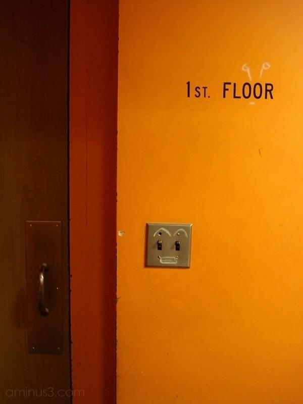 door exit sign first floor