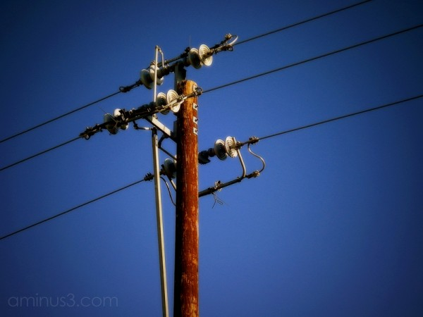 utility pole lines cables