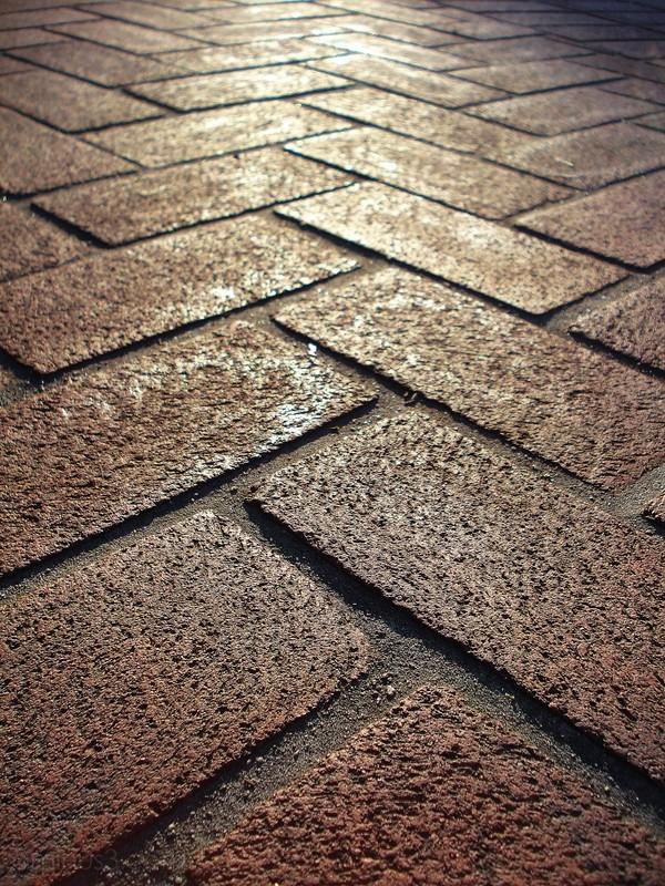 bricks sunset contrast