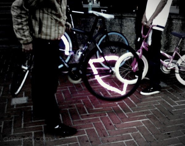 bicycle bike light neon
