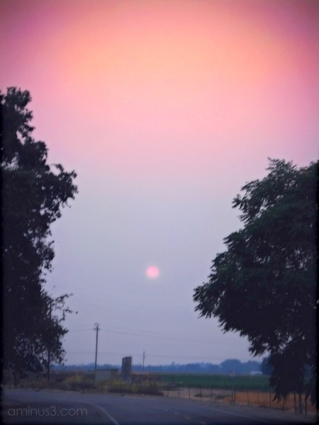 sunset fire smoke red sun