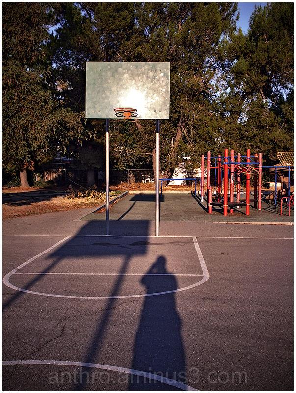 self-portrait shadow playground elementary school