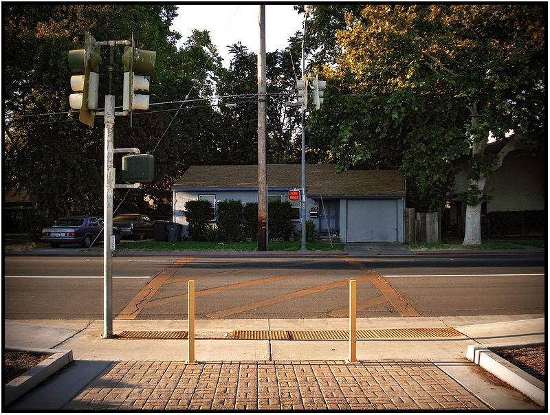 elementary school crossing walk street light