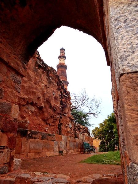 untitled window to qutb minar