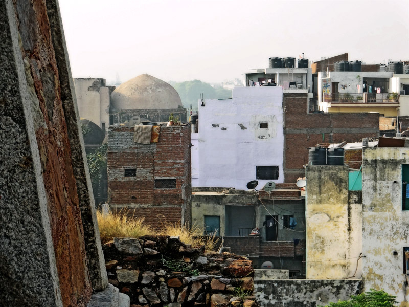 ancient and modern buildings deteriorating