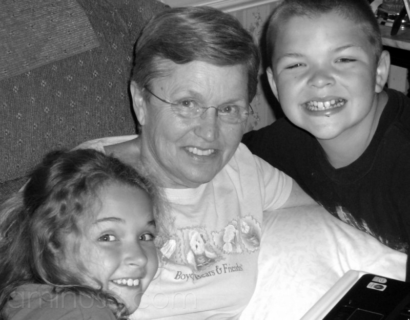 Nana and Two of Her Angels