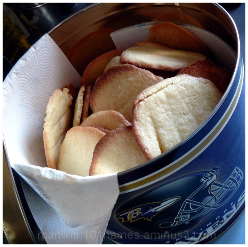 Ravens and homemade Butter Cookies ...