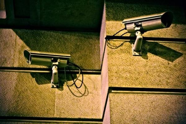 surveillance cameras at night