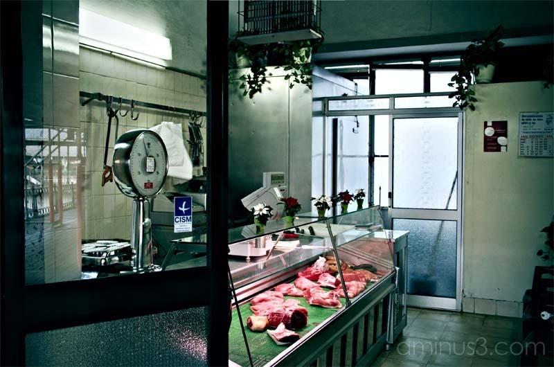 butcher shop at a market