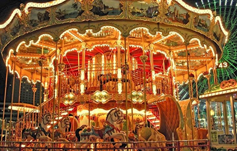 Merry-go-round at Yokohama's Cosmos World