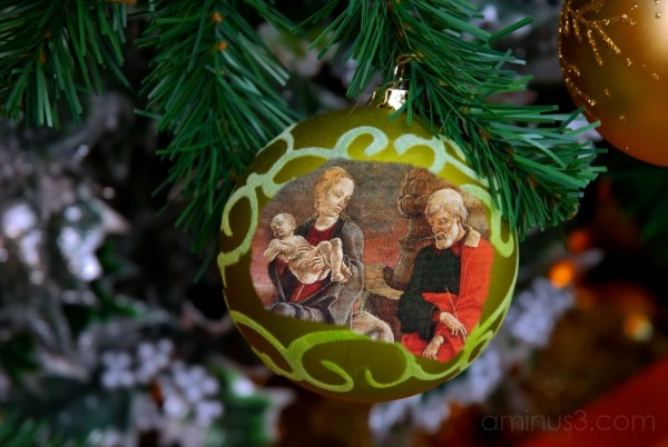 Photoart - application on Christmas decoration