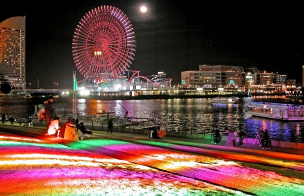 Illuminations on the bay,Yokohama