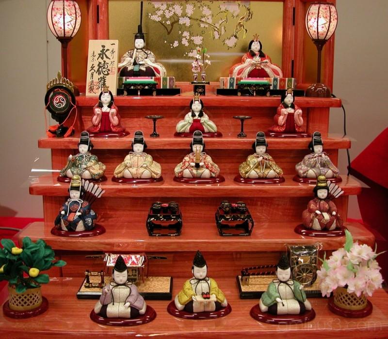 Dolls'Display for the Girls'Festival, Japan