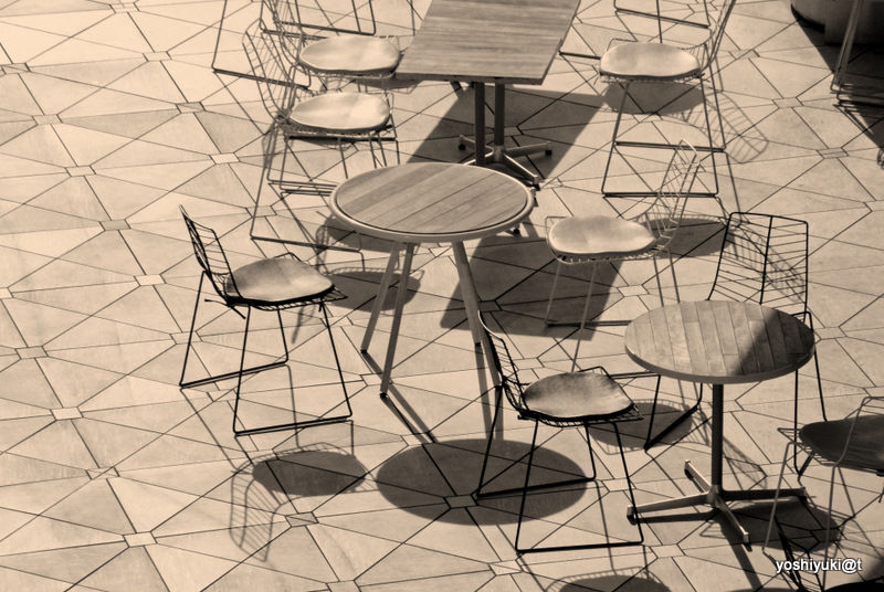 A game of tables and chairs