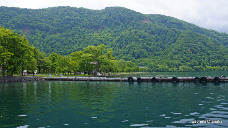 View of small resort, Towada Lake, Tohoku,Japan