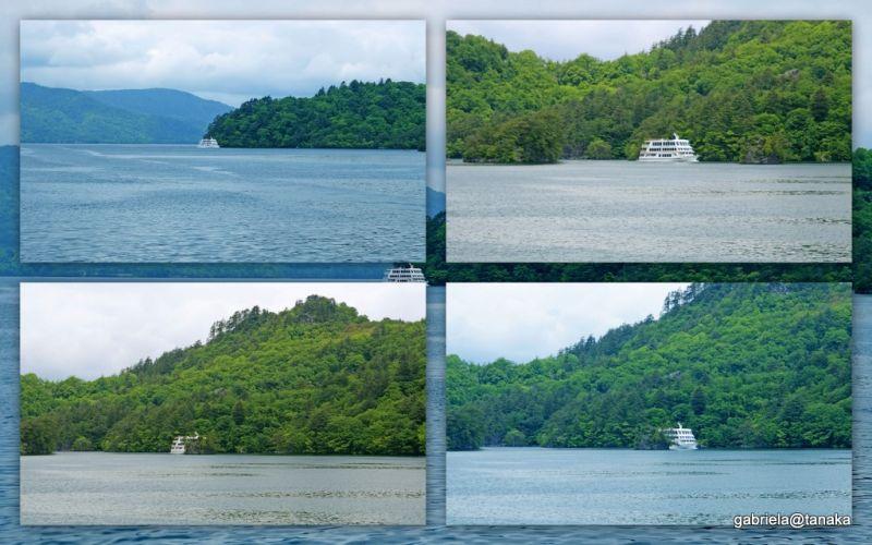 Pleasure boats on Lake Towada, Tohoku, Japan