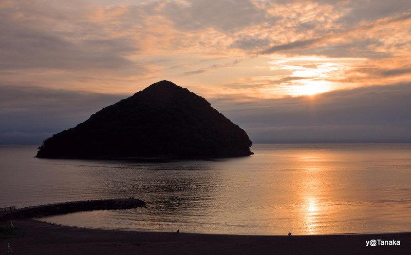 Sunset on Mutsu Bay, Tohoku,Japan