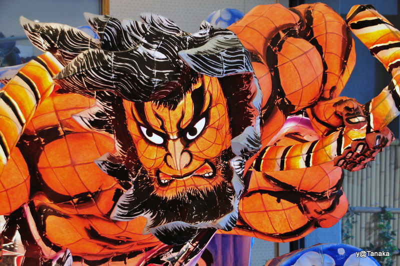 A face from the Nebuta Festival in Aomori,Tohoku