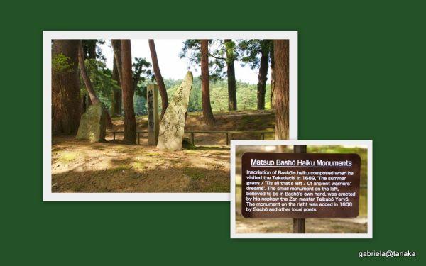 Matsu Basho's monuments at Motsu-ji,Hiraizumi
