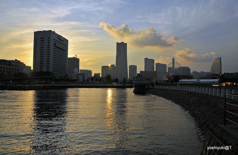View of Yokohama at twilight