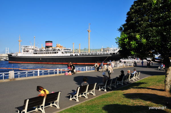 Hikawa Maru - landmark of Yokohama Bay