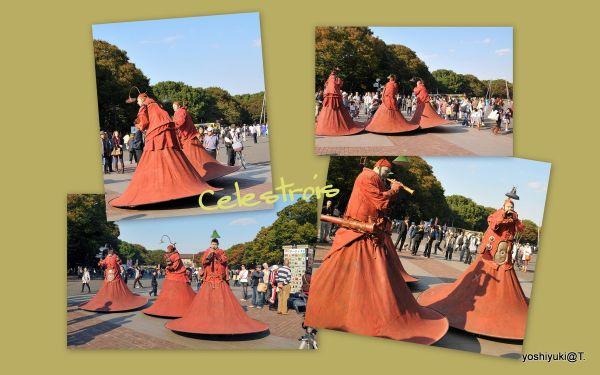 Street performers at Ueno Park,Tokyo