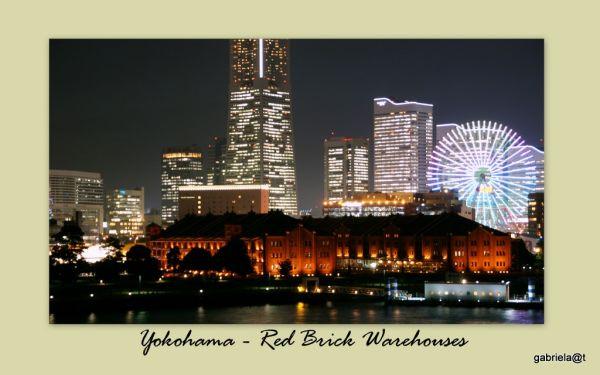 Red Brick Warehouses on the bay at Yokohama