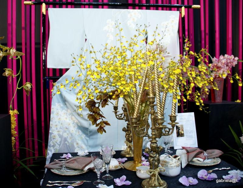 Furisode and table setting by Shogo Kariyazaki