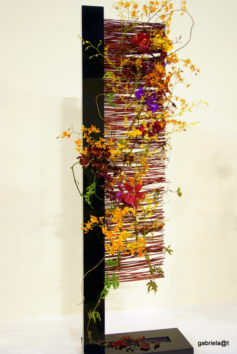Interior design with orchids