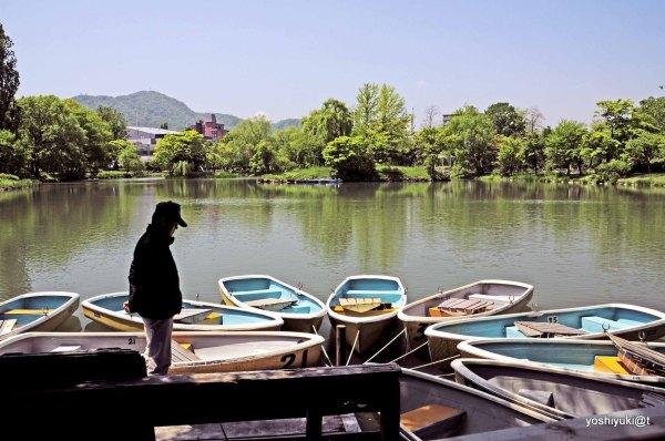 Man and his boats, Nakajima Park, Sapporo