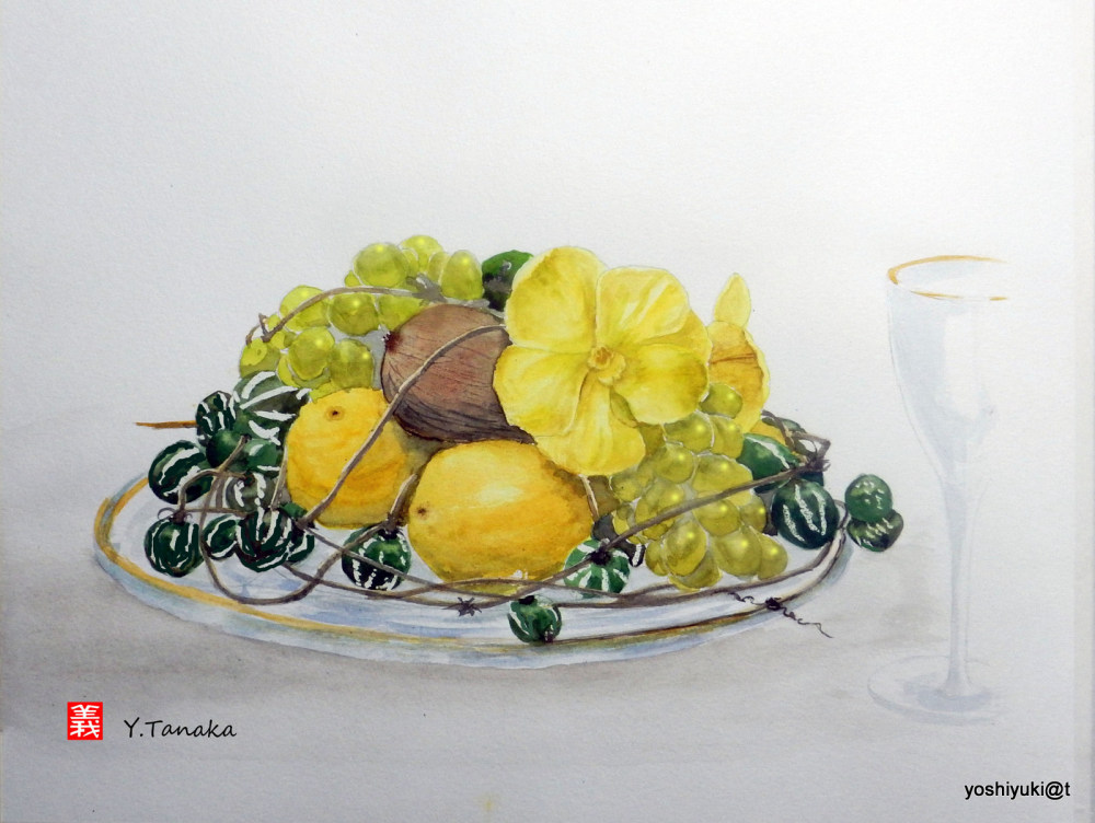 Still Life with Fruits (watercolour)