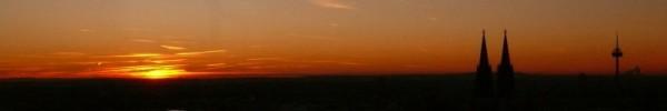 Sonnenuntergang über die Stadt