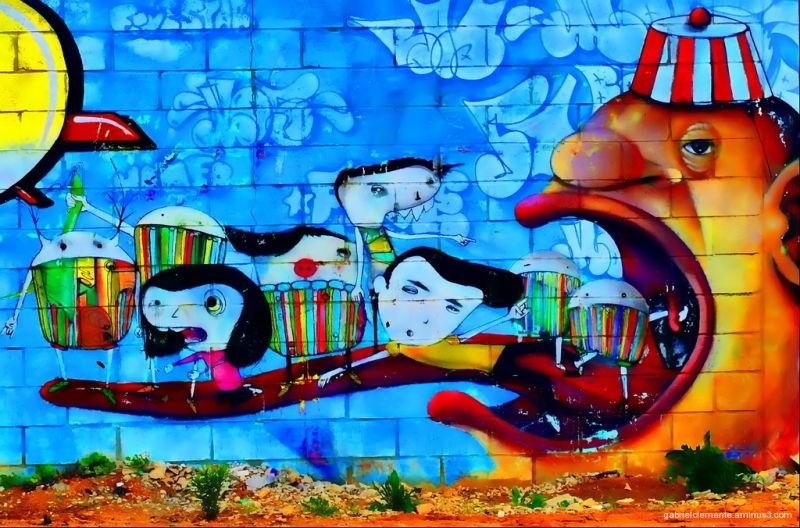 Chameleon - mural painting
