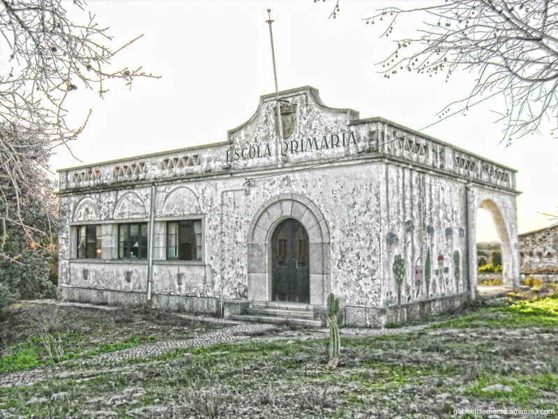 Ruins of an elementary school of the 50th Year