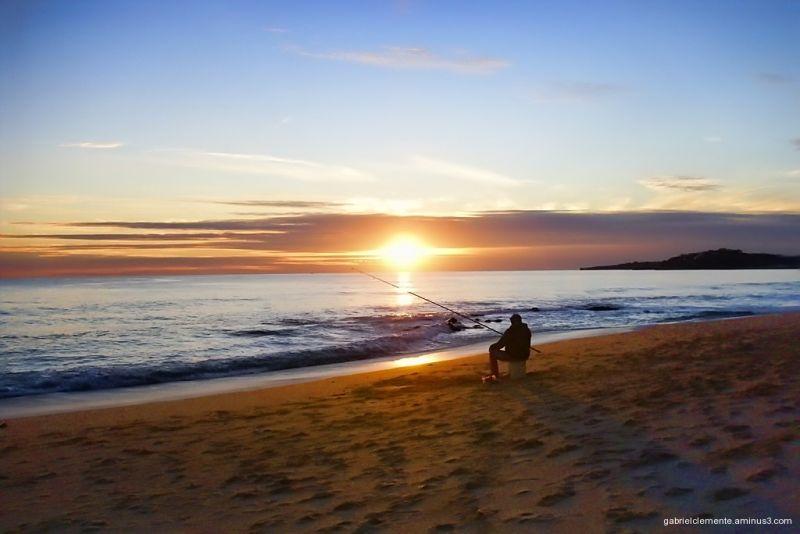 Sunset in winter in the Algarve