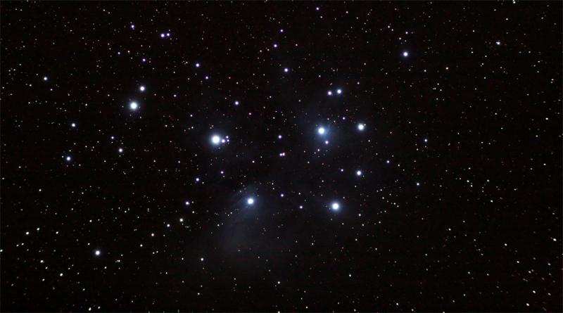 seven,sisters,sky,star,night,nebula
