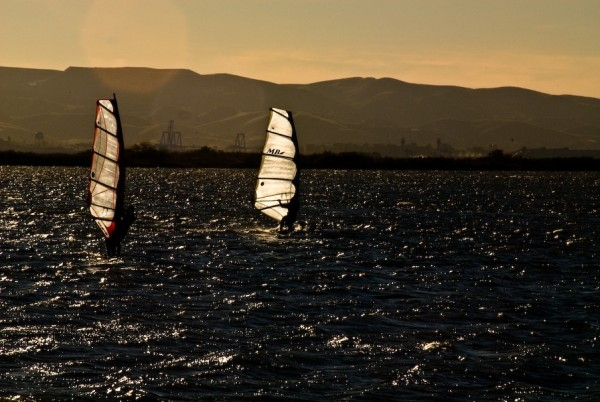 windsurfers suisun bay california