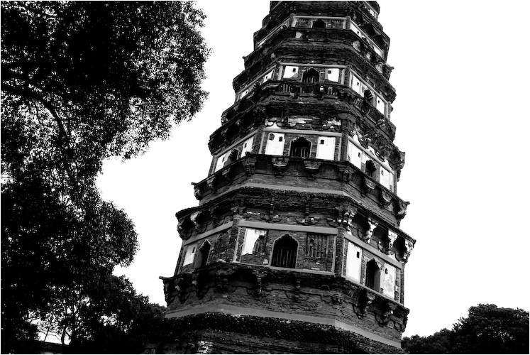 leaning pagoda tiger hill suzhou china