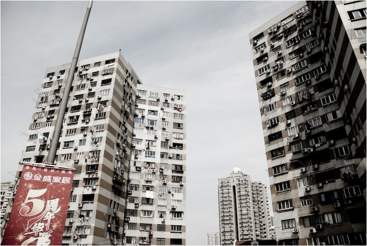 high rise apartments shanghai china