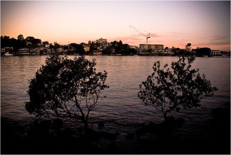 sunset brisbane river brisbane australia
