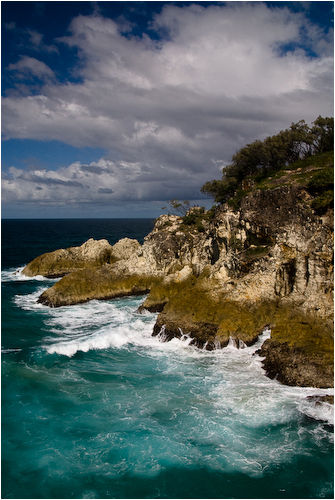 waves north stradbroke island queensland australia