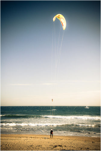 kitesurfer san gregorio california