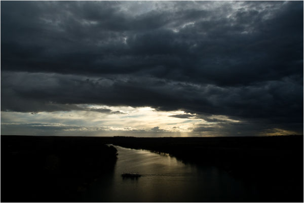 sunset murray river south australia